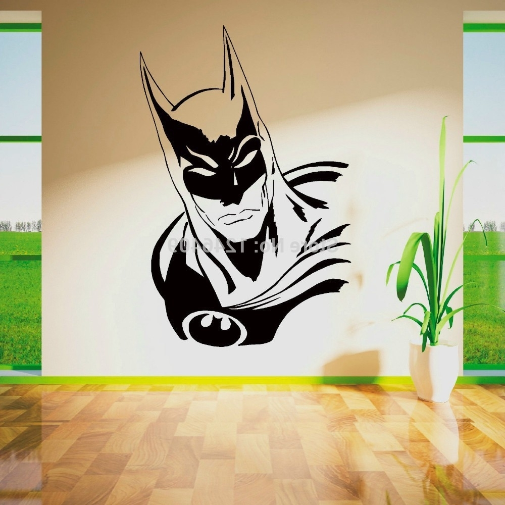 Superhero Wall Art Stickers Throughout Favorite Cool Batman Superhero Vinyl Removable Wall Art Sticker Poster (View 12 of 15)