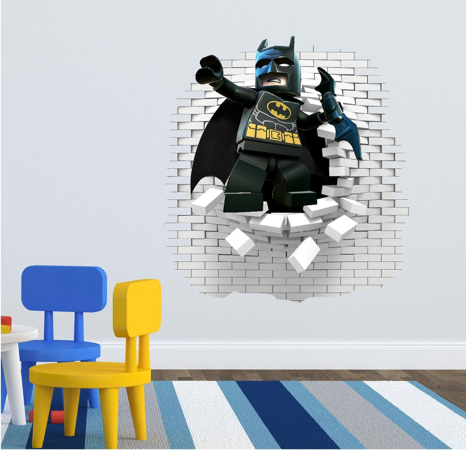 Superhero Wall Art Stickers Throughout Most Recent 3D Lego Batman Wall Decal Great For The Kids Room (View 13 of 15)