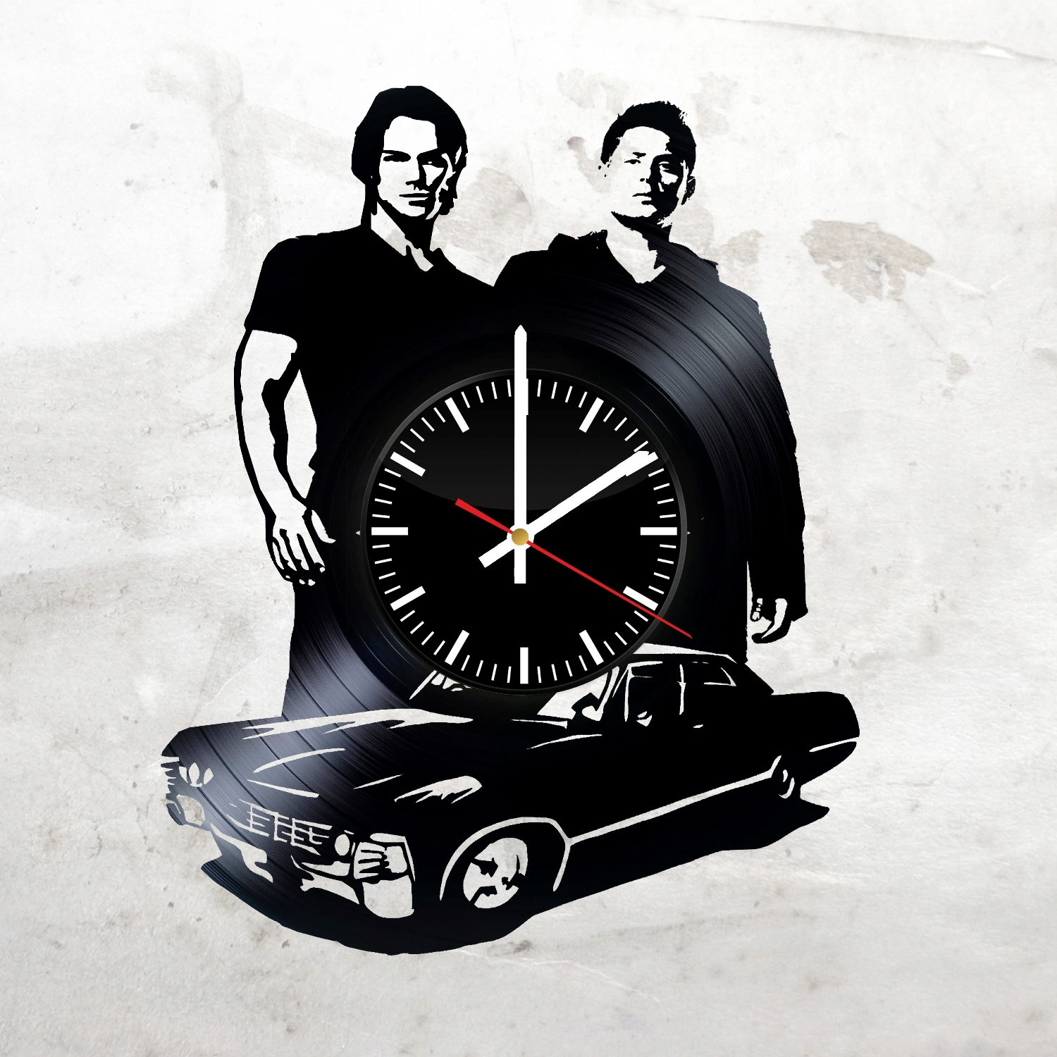Supernatural Wall Art Inside Newest Supernatural Darkness Handmade Vinyl Record Wall Clock Fan Gift (View 9 of 15)
