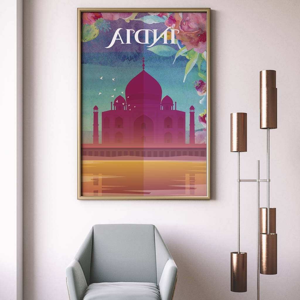 Taj Mahal, Agra, India Art Print2By2 Creative Within Newest Taj Mahal Wall Art (View 13 of 15)