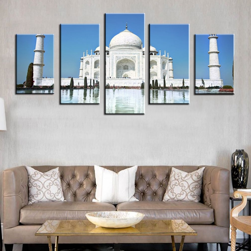 Taj Mahal Wall Art In Current Pearl Of India Taj Mahal World Cultural Heritage Photo Hd Print  (View 12 of 15)