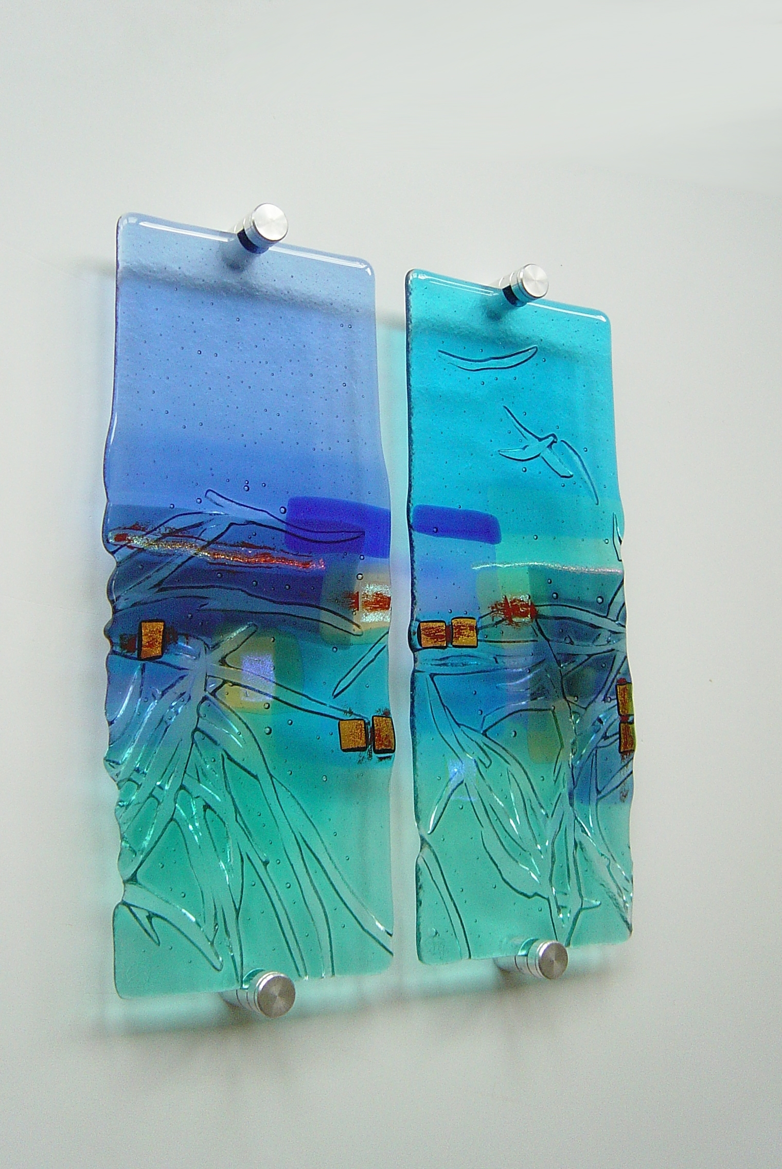 Tapestry Land' Kiln Formed Glass Panelswww.kimbramley.co (View 15 of 15)