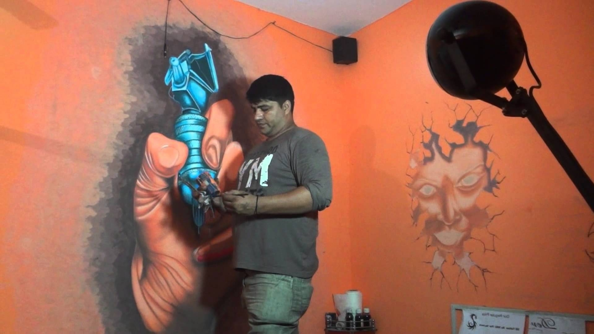Tattoo Shop Wall Artdev 9313666999 – Youtube With Most Up To Date Tattoo Wall Art (View 13 of 15)