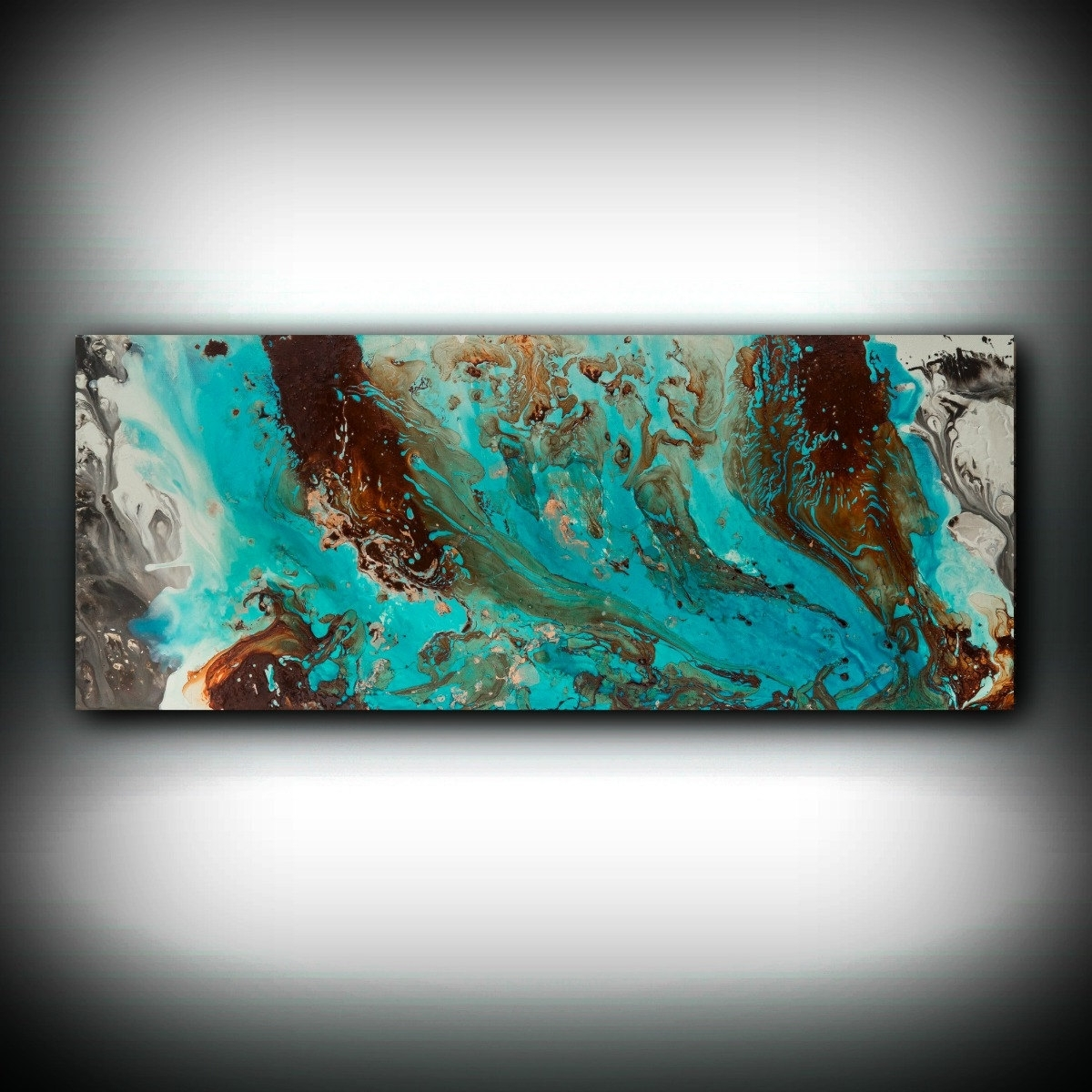 Teal And Brown Wall Art Throughout Most Up To Date Aqua Print, Blue And Brown Wall Art Decor, Colourful, Bohemian Art (View 14 of 15)