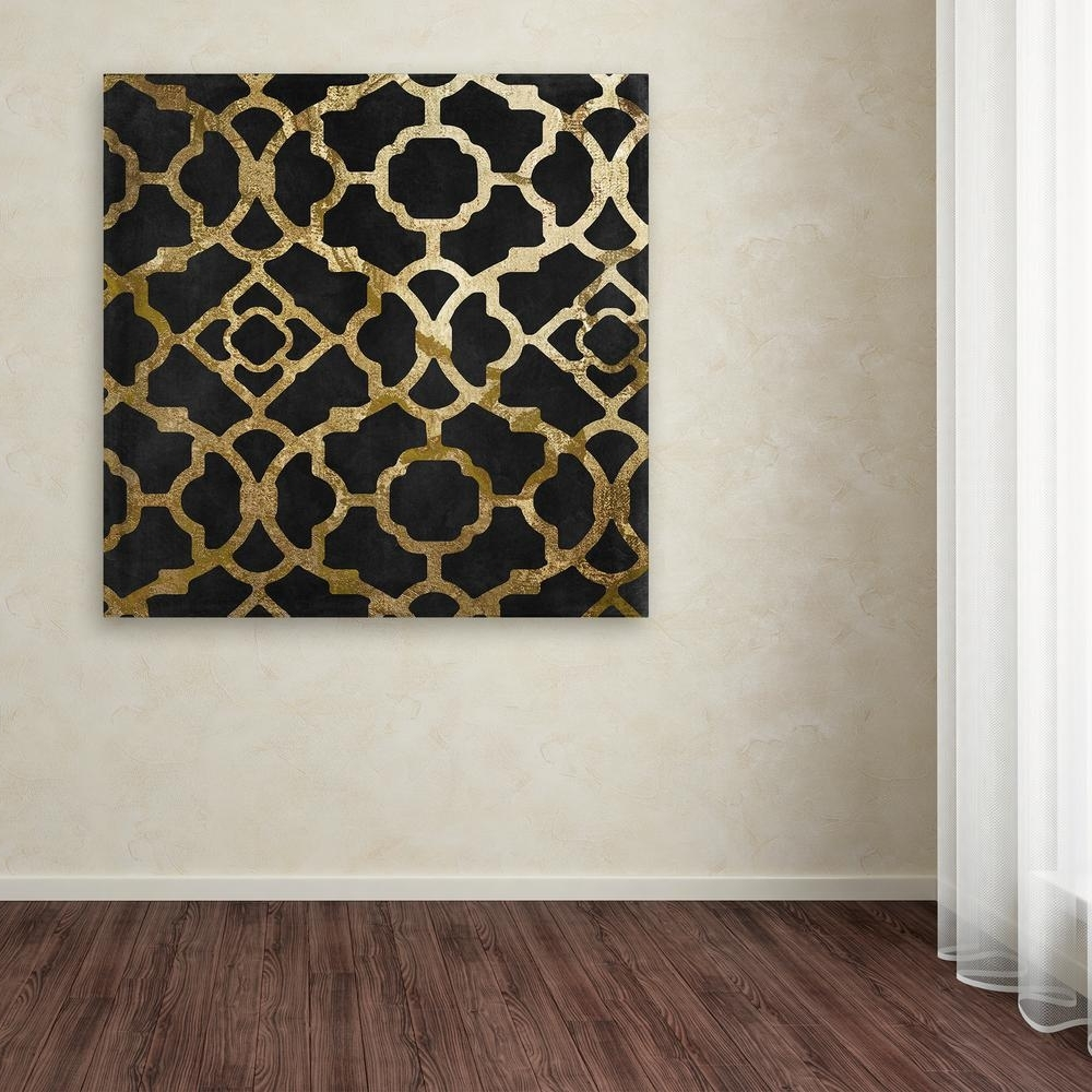 Teal And Gold Wall Art In 2018 Trademark Fine Art 35 In. X 35 In (View 6 of 15)