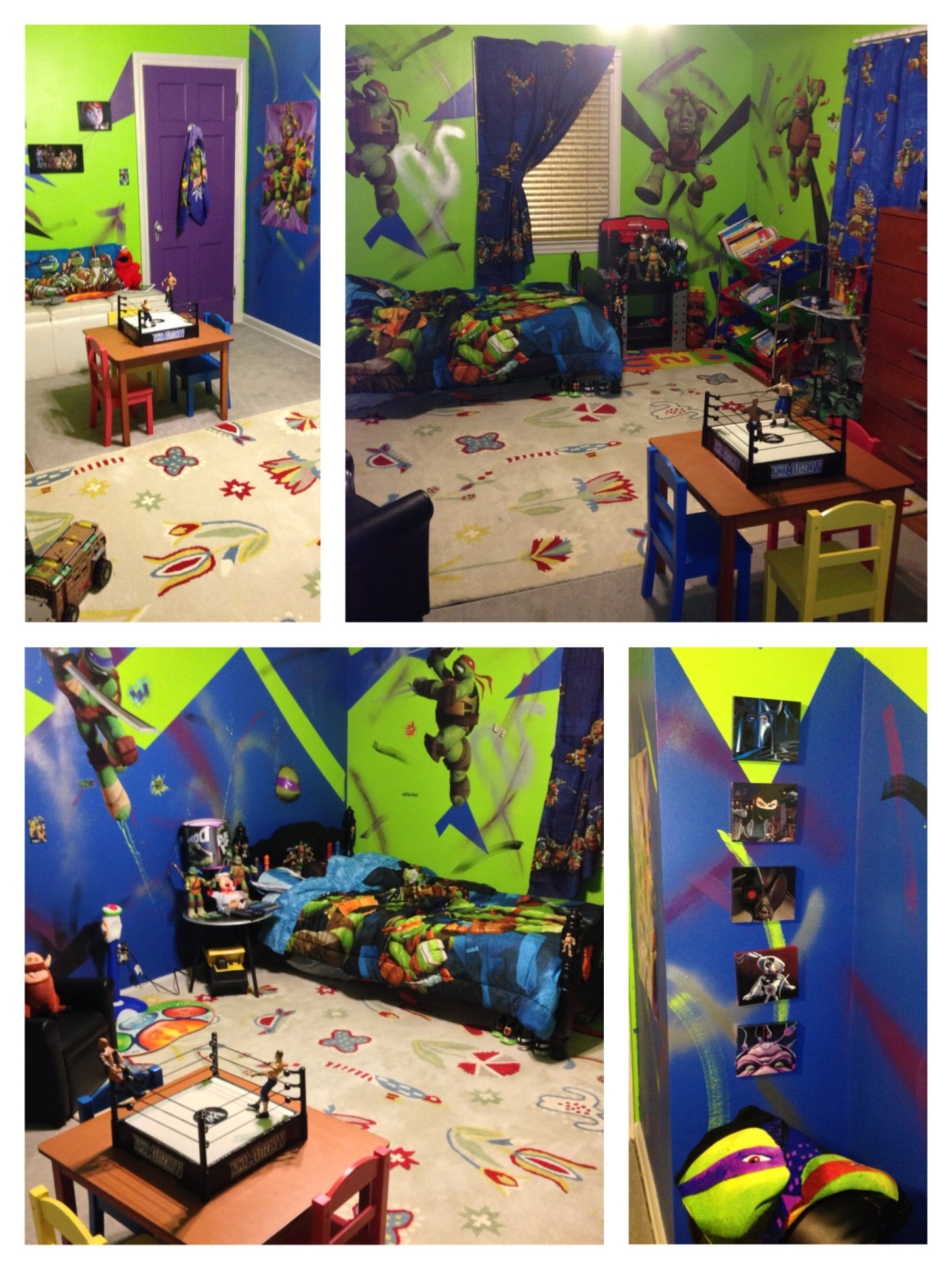 Teenage Mutant Ninja Turtle Bedroom – Diy Projects Regarding Tmnt Wall Art (Gallery 15 of 15)