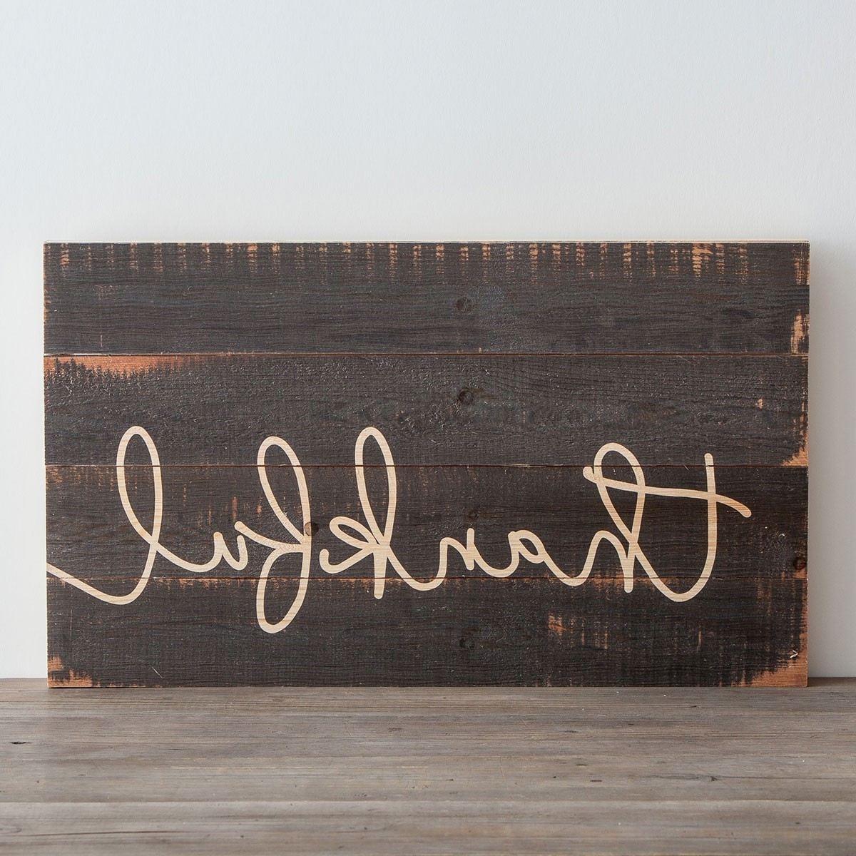 Thankful – Wooden Wall Art (Gallery 3 of 15)