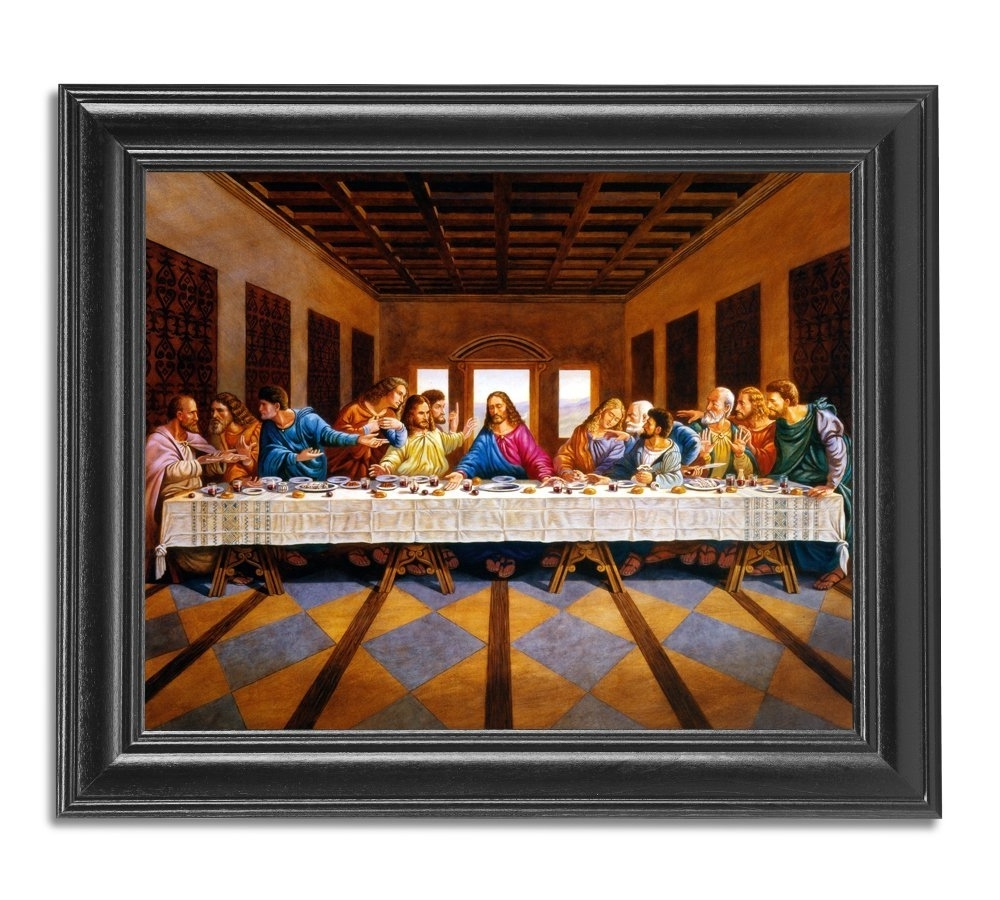 The Last Supper Wall Art Within Well Liked Amazon: Jesus Christ The Last Supper Religious Wall Picture (View 2 of 15)