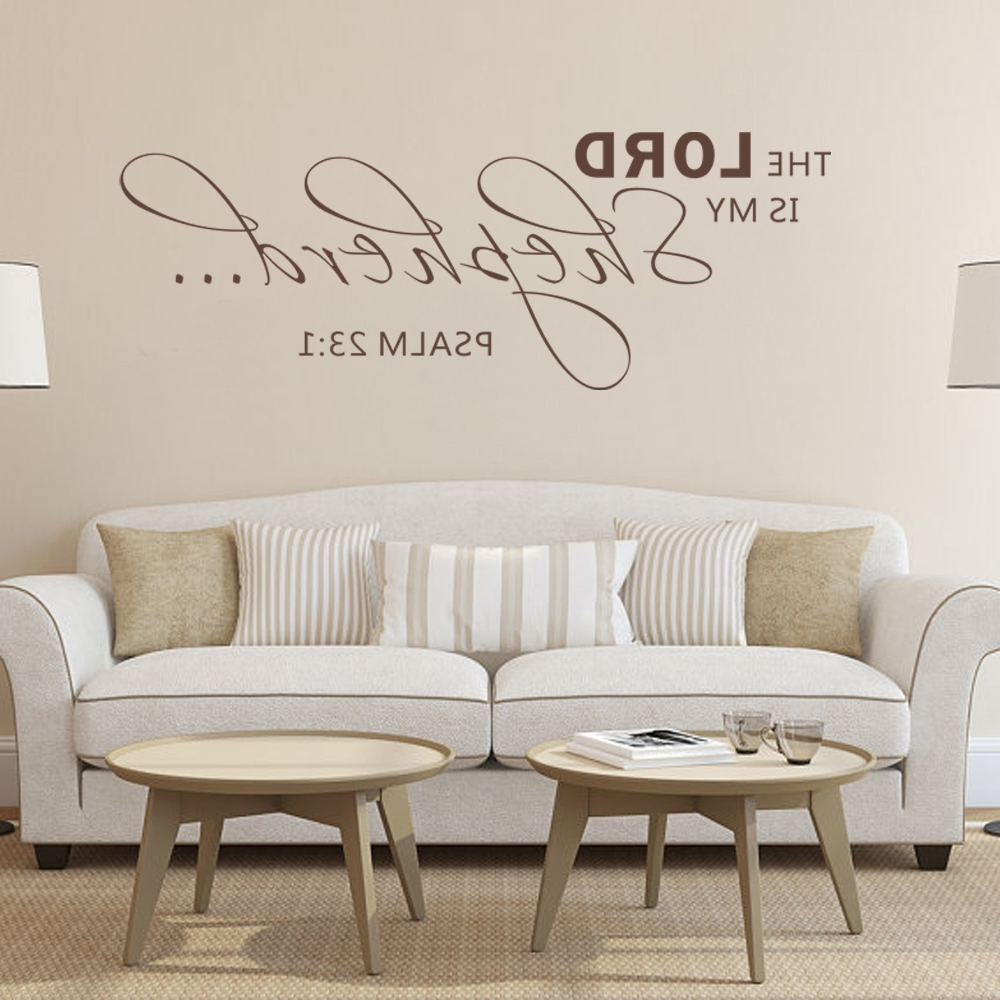 The Lord Is My Shepherdpsalm 23:1 Scripture Wall Sticker Vinyl Intended For Most Popular Bible Verses Wall Art (View 9 of 15)