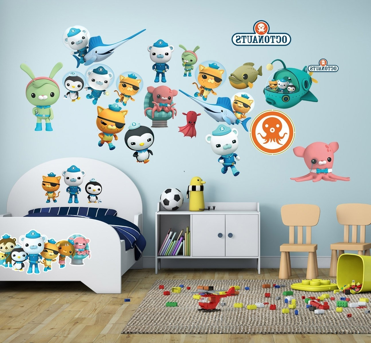 The Octonauts Wall Stickers Decal Kids Room Bedroom Children With 2017 Octonauts Wall Art (Gallery 7 of 15)