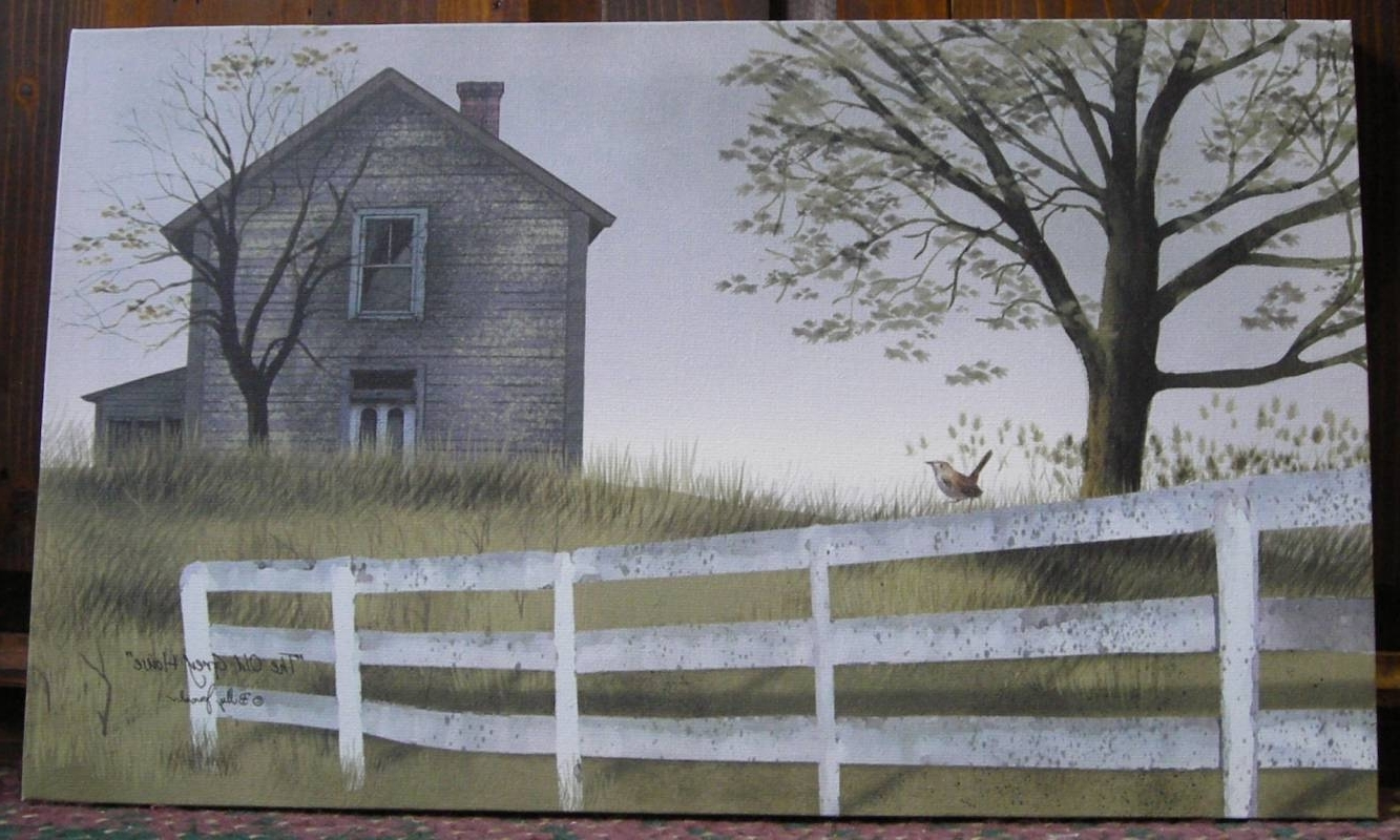 The Old Grey House – Billy Jacobs Canvas Print At The Cottage Gift For Favorite Billy Jacobs Framed Wall Art Prints (View 14 of 15)