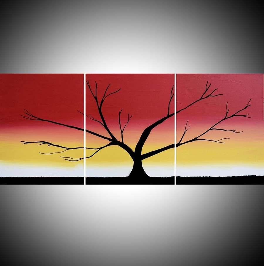 "The Rainbow Tree"" Acrylic Tree Painting,happy Tree Painter Within Well Liked Triptych Art For Sale (View 8 of 15)"