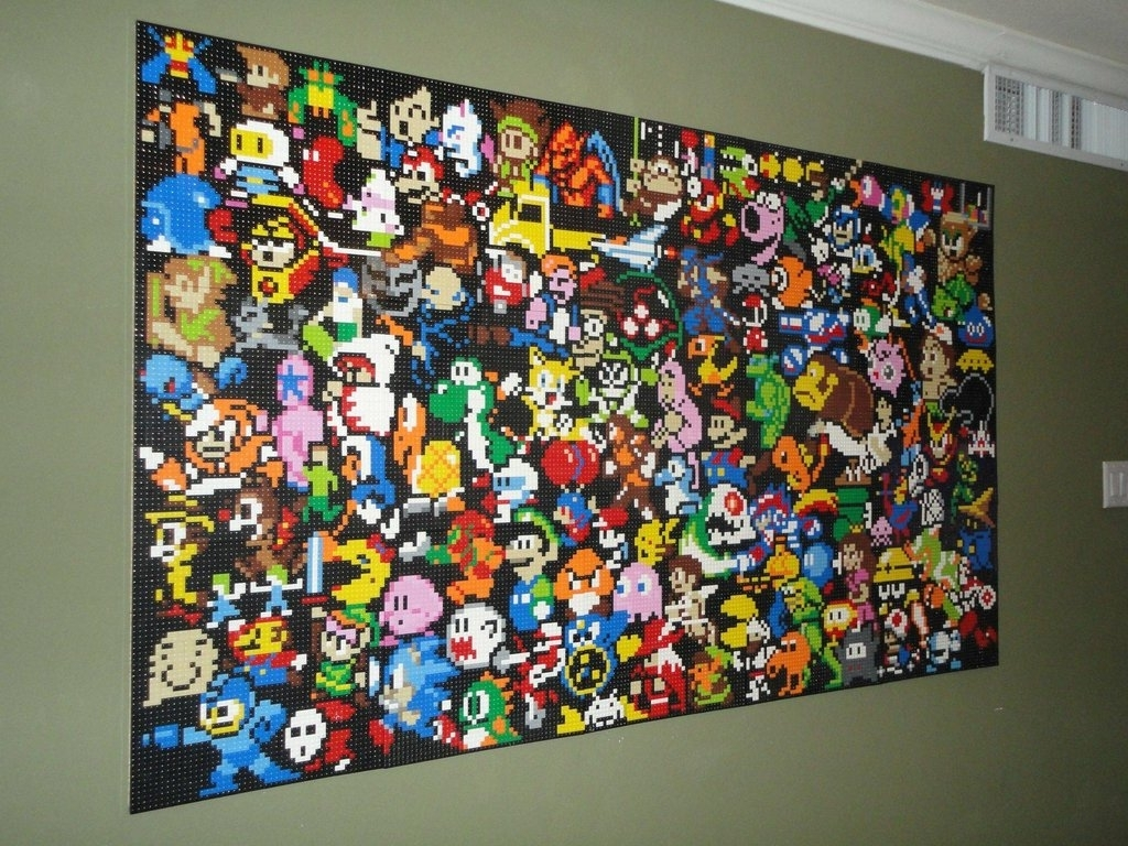 Delightful [%This Lego Wall Mural Is An Epic Tribute To Video Games [Pic Throughout