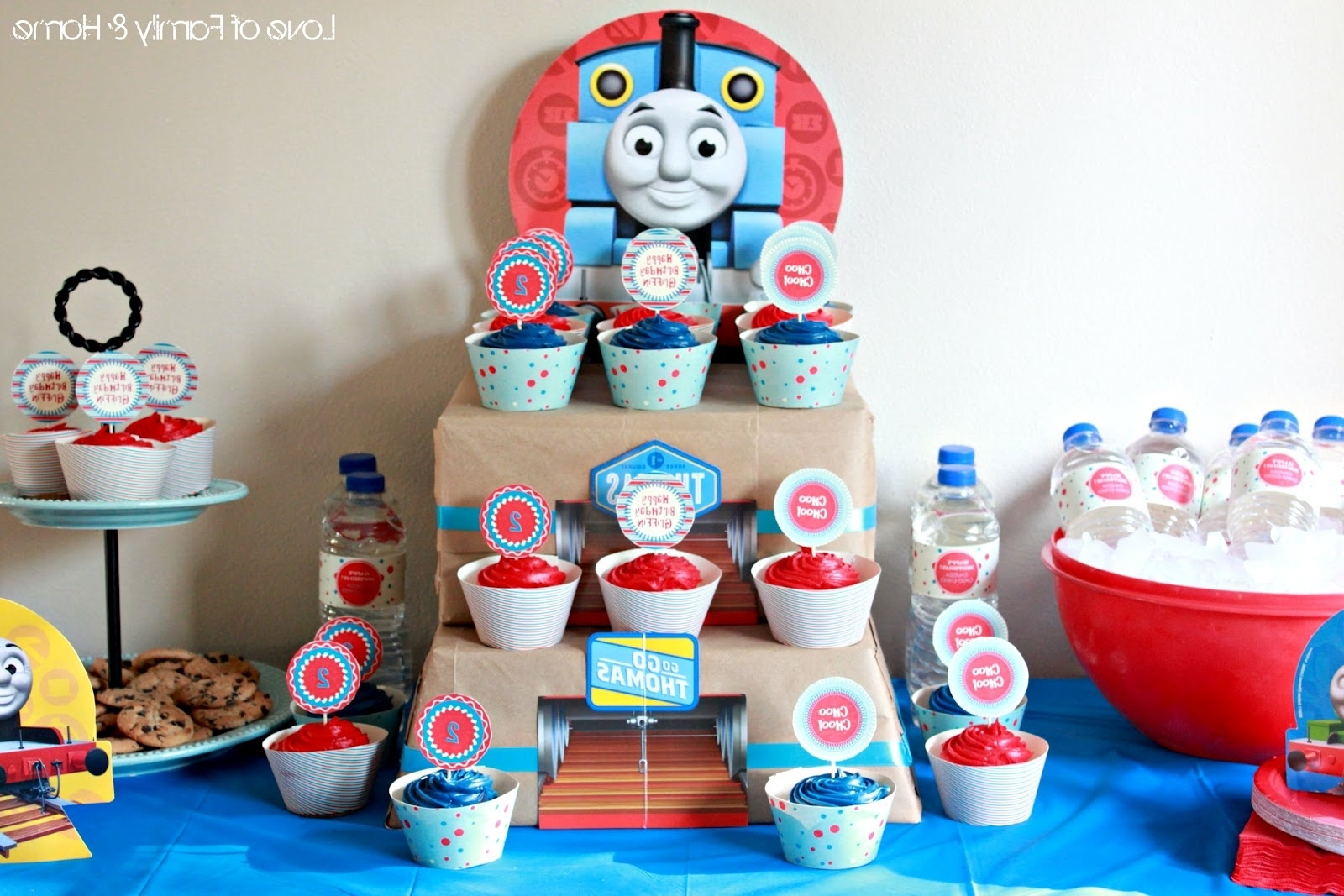 Thomas The Tank Wall Art Inside 2017 Griffin Turns 2Thomas The Train Birthday Party – Love Of Family (View 8 of 15)