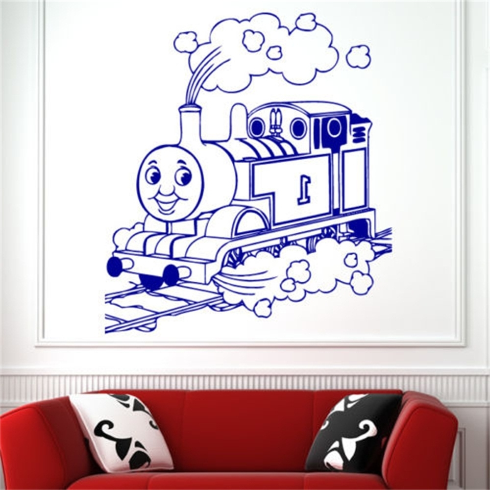 Thomas The Tank Wall Art Intended For Most Current Children Thomas Tank Engine Train Wall Art Sticker Decal Kids Play (View 10 of 15)