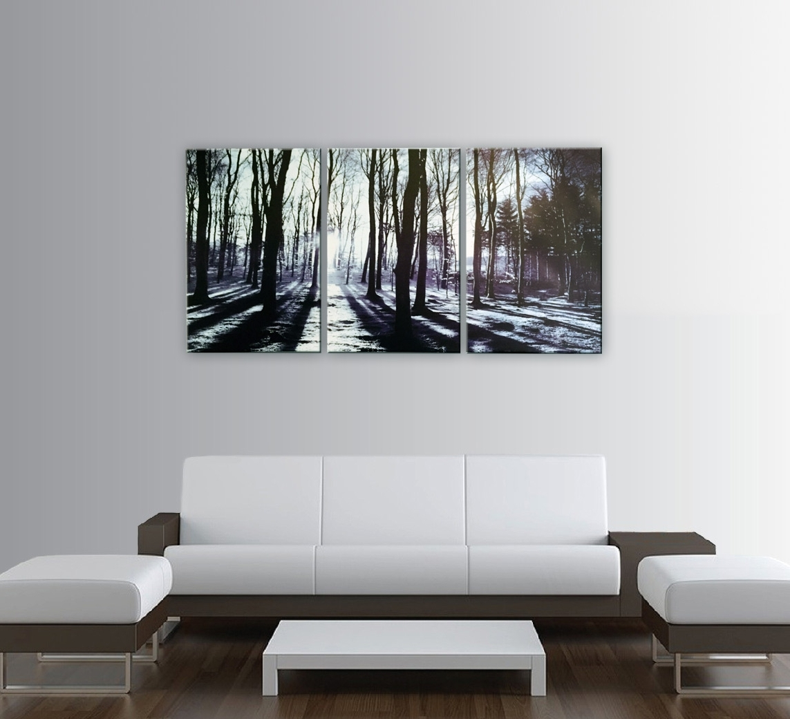 Three Piece Canvas Wall Art Regarding Most Recent In The Forest 3 Piece Photo Art Print (View 14 of 15)
