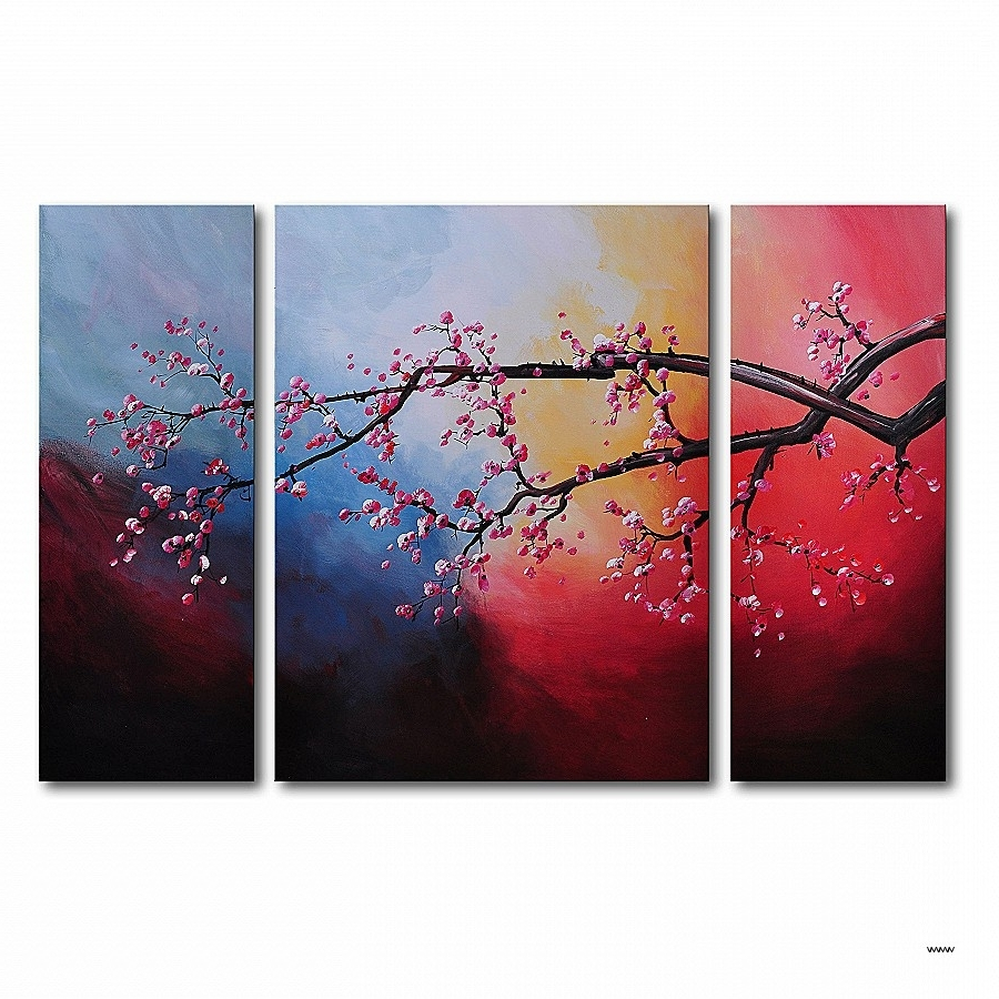 Three Piece Wall Art Sets Best Of Cotton Candy Sky Blossom 3 Piece Pertaining To Well Liked Three Piece Wall Art Sets (View 8 of 15)