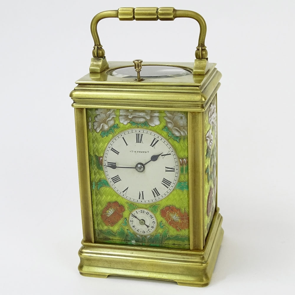 Tiffany And Co Wall Art Pertaining To Current Tiffany & Co. Enamel And Brass Repeater Carriage Clock (View 11 of 15)
