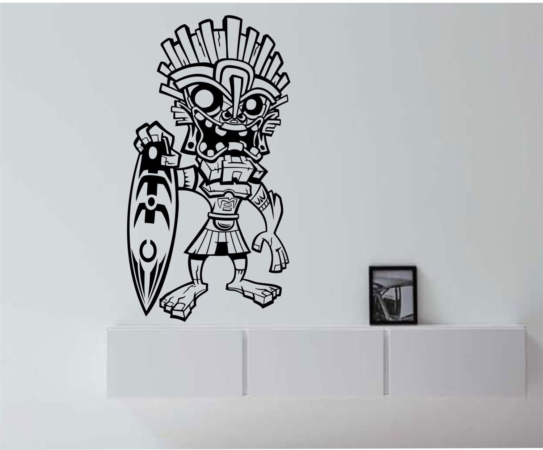 Tiki Surfer Hawaii Vinyl Wall Decal Sticker Art Decor Bedroom Pertaining To Most Recent Hawaiian Wall Art Decor (View 12 of 15)