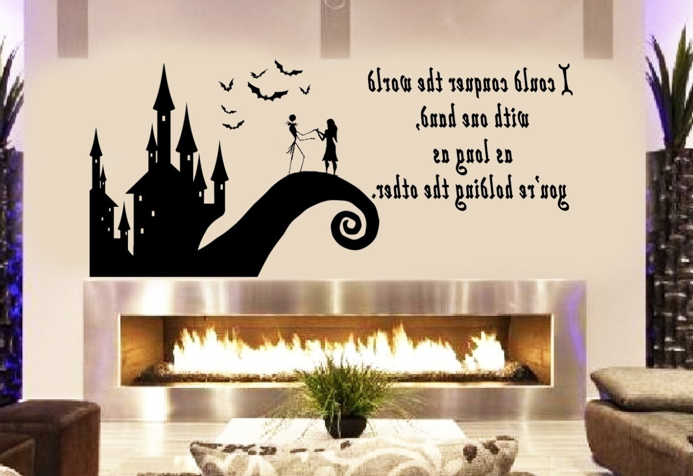 Tim Burton Wall Decals Regarding Most Popular Amazon: Art's Jack And Sally Love Story Nightmare Before (View 9 of 15)