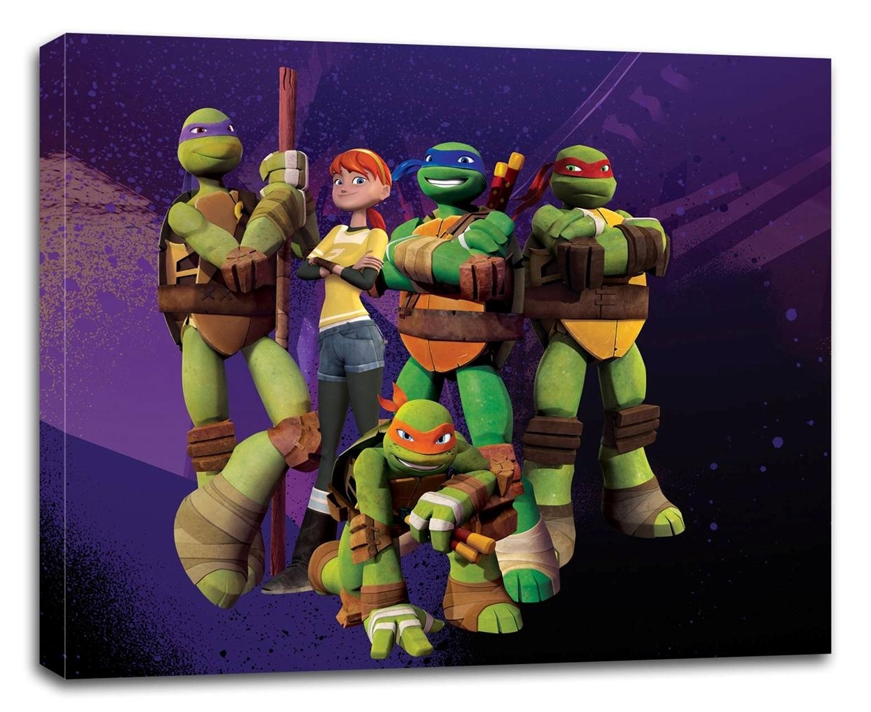 Tmnt Ninja Turtles Canvas Print Wall Decor Art Giclee Kids Bedroom Regarding Best And Newest Tmnt Wall Art (View 12 of 15)