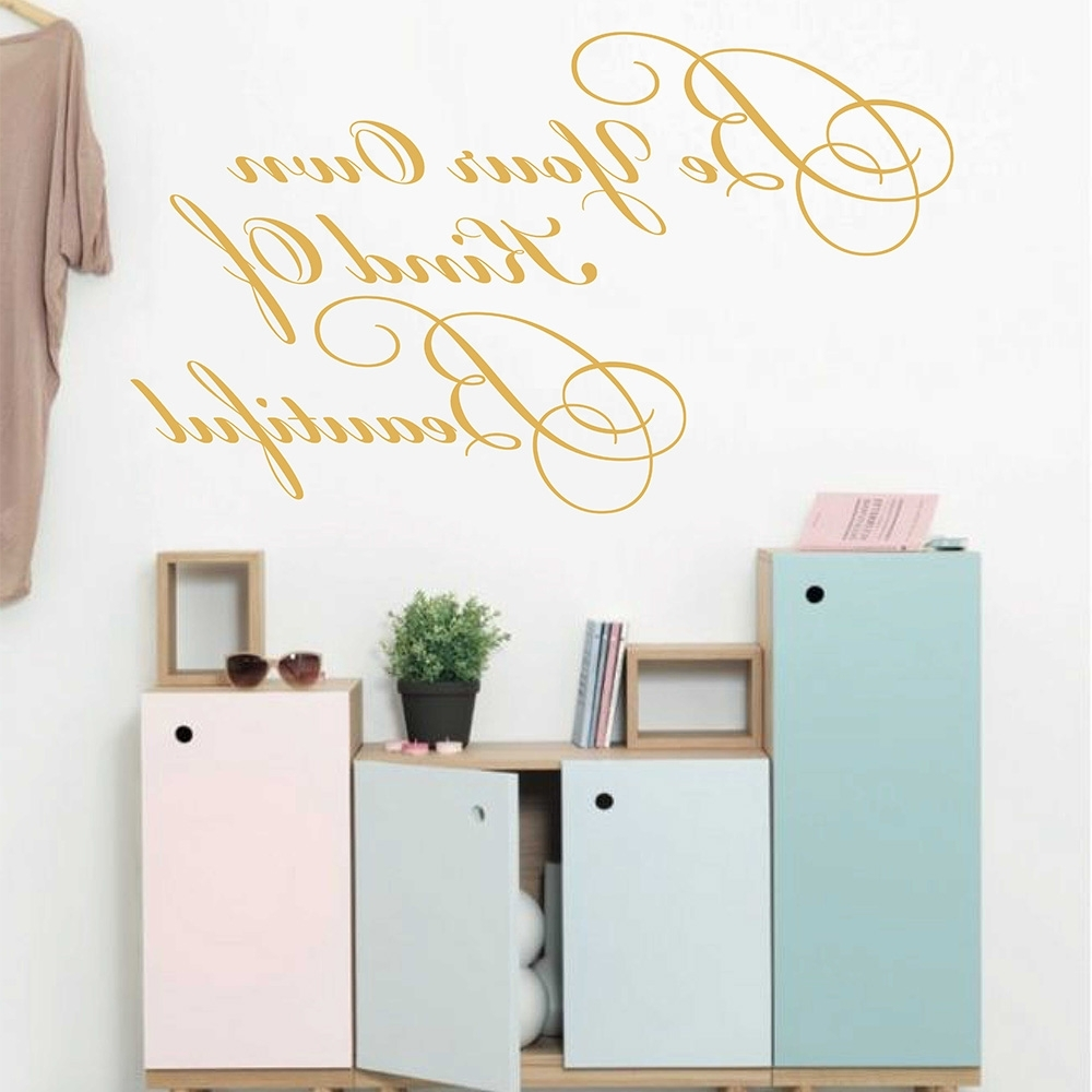 To Be Your Own Kind Of Beautiful Coco Chanel Quotes Wall Sticker Within Recent Coco Chanel Wall Decals (View 15 of 15)