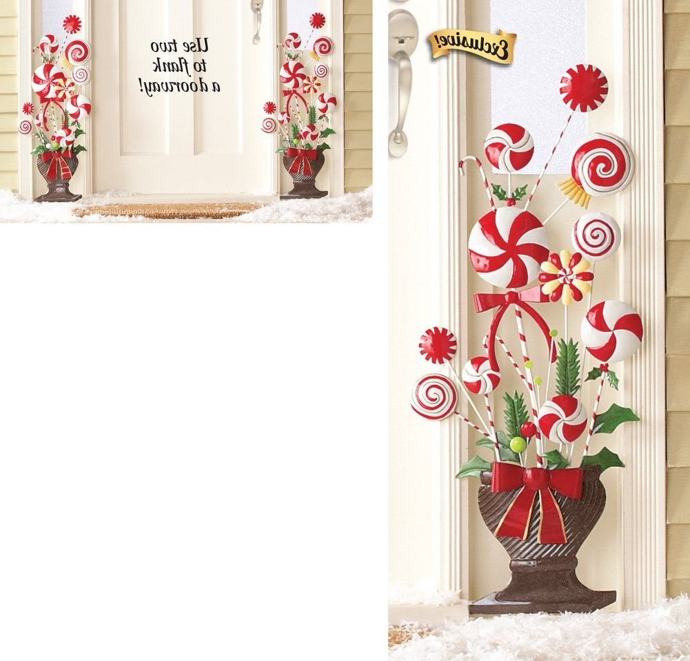 Topiary Wall Art Inside Latest Amazon : Peppermint Candy Cane Topiary Wall Decoration (View 9 of 15)