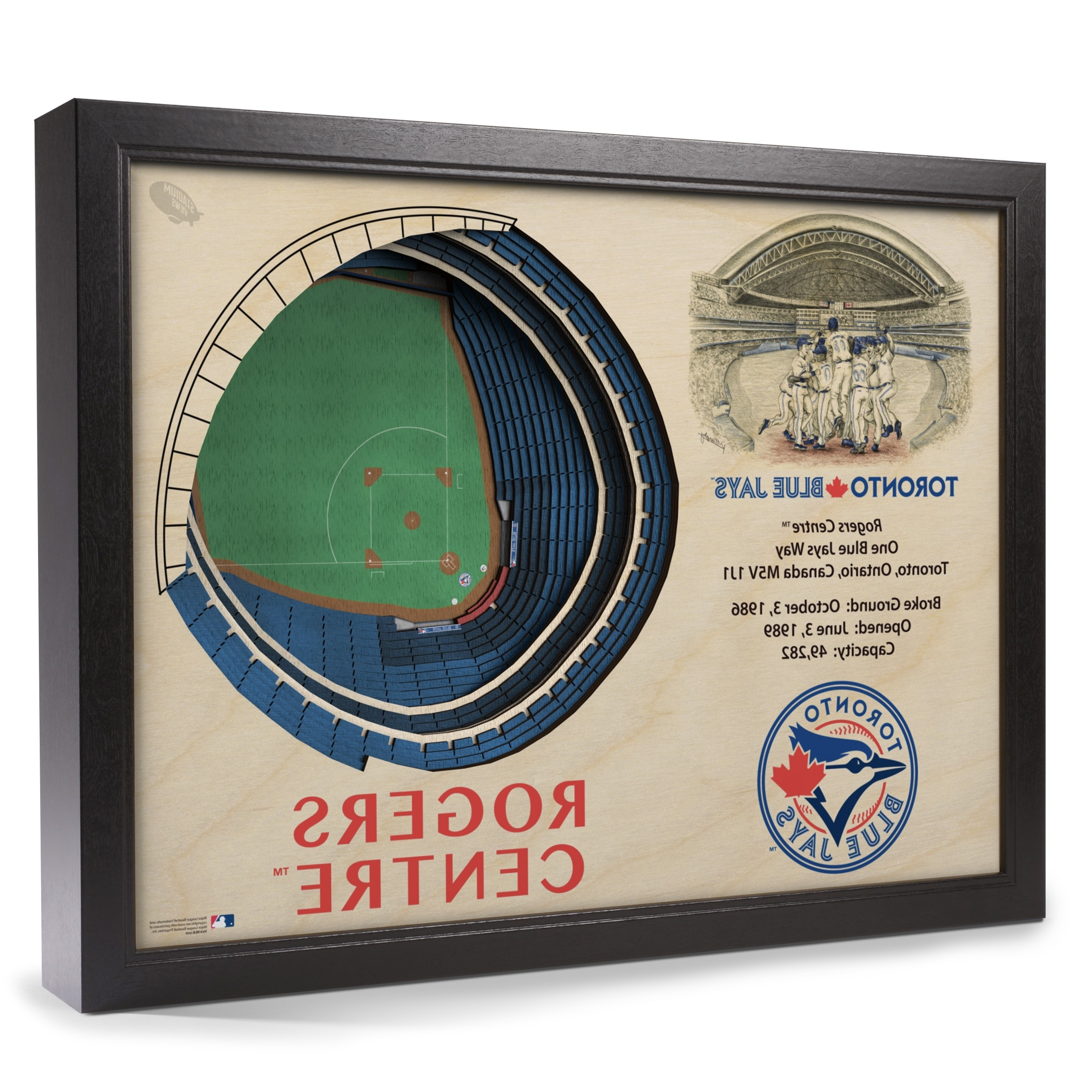 Toronto Blue Jays Stadiumview Wall Art – Rogers Centre 3 D Regarding Preferred Baseball 3D Wall Art (View 12 of 15)