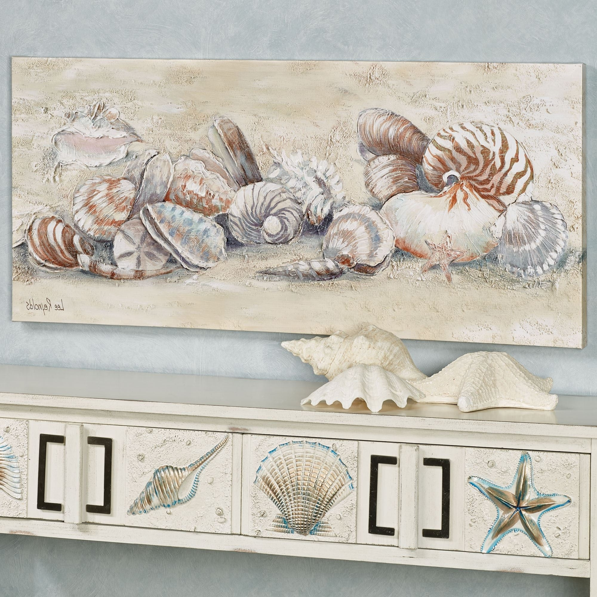 Touch Of Class In 2017 Seashell Prints Wall Art (View 11 of 15)