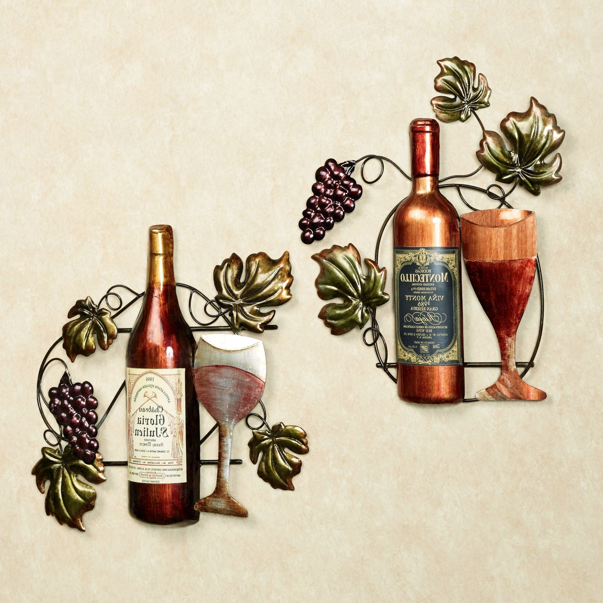 Touch Of Class With Regard To Well Liked Wine Metal Wall Art (View 12 of 15)