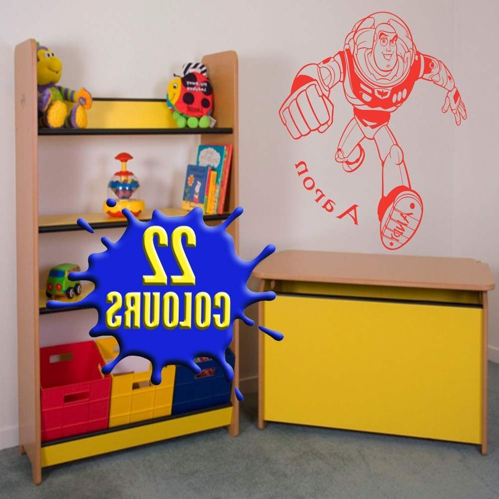 Toy Story Wall Art In Widely Used Awesome Toy Story Buzz Lightyear Wall Art Decal Vinyl Sticker Wall (View 15 of 15)