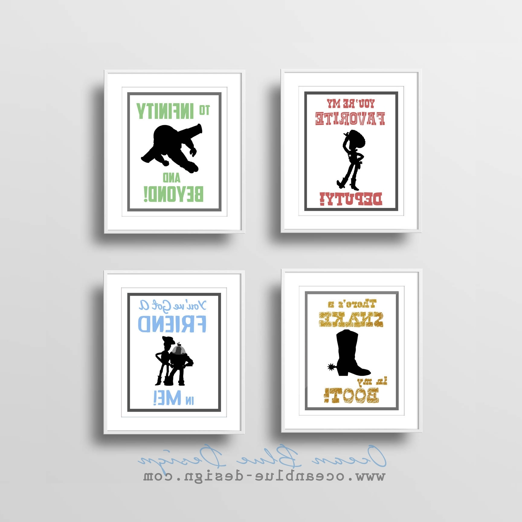 Toy Story Wall Art Inside Recent Toy Story Prints – Set Of 4 – 8″x10″ Prints – White Background (View 7 of 15)