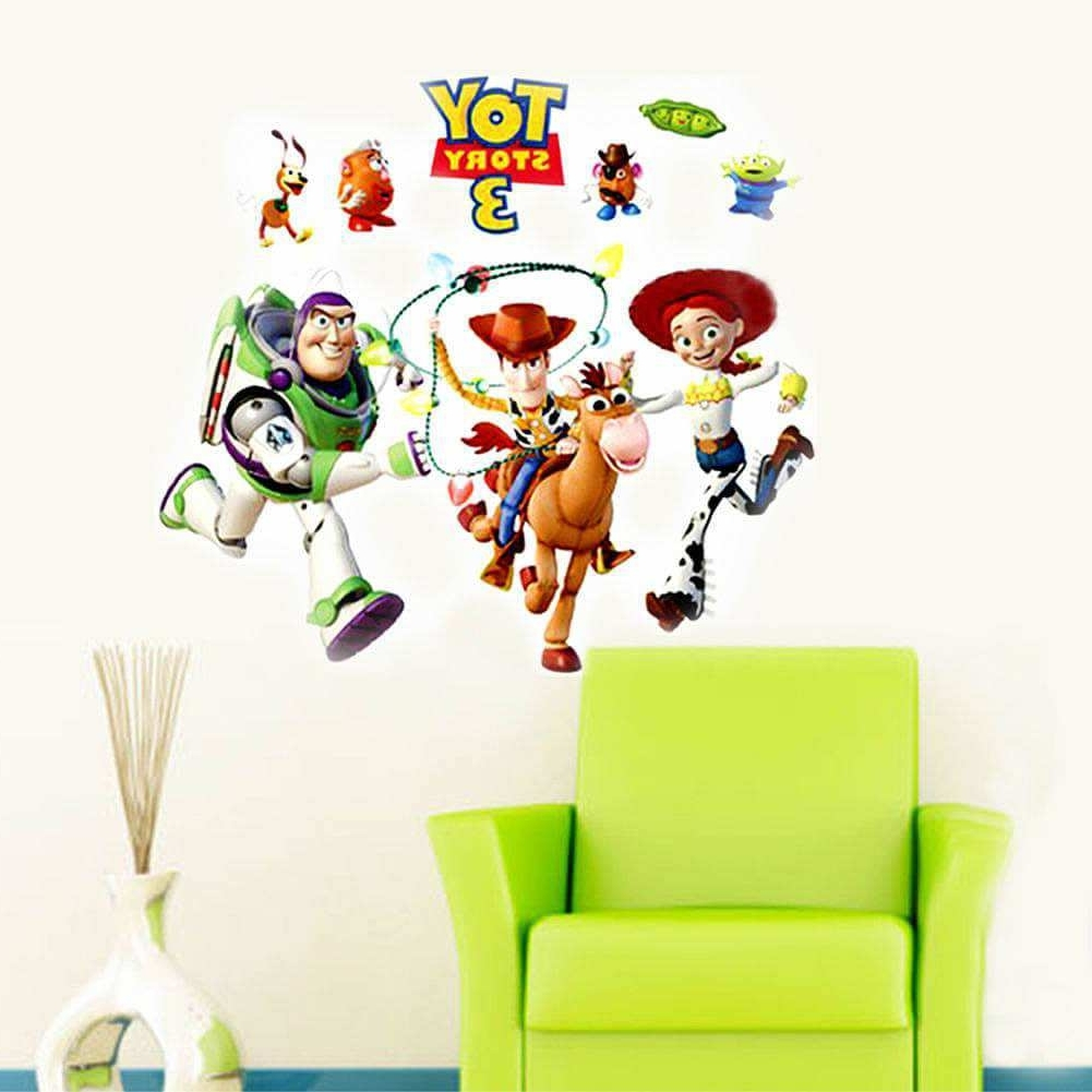 Toy Story Wall Stickers Pertaining To Preferred Toy Story 3 Wall Sticker Art Decals For Kids (View 11 of 15)