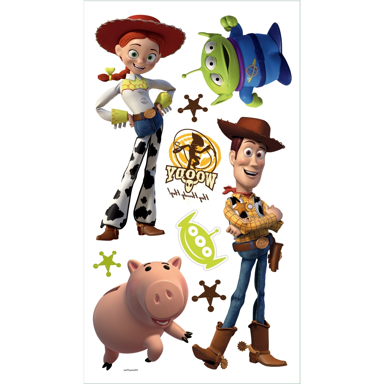 Toy Story Wall Stickers Within Well Liked Toy Story 3 Removable Decals (View 6 of 15)