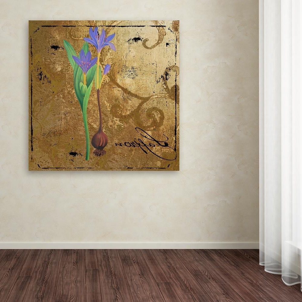 """Trademark Fine Art 35 In. X 35 In. """"moroccan Gold Iv""""color Inside Most Recently Released Black And Teal Wall Art (Gallery 3 of 15)"""