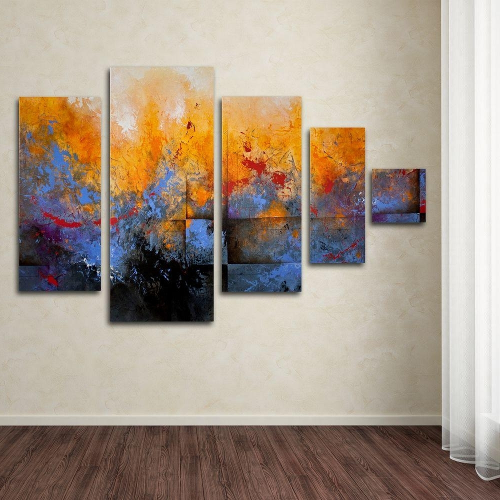 Trademark Fine Art My Sanctuarych Studios 5 Panel Wall Art Set Within Widely Used Three Panel Wall Art (View 10 of 15)
