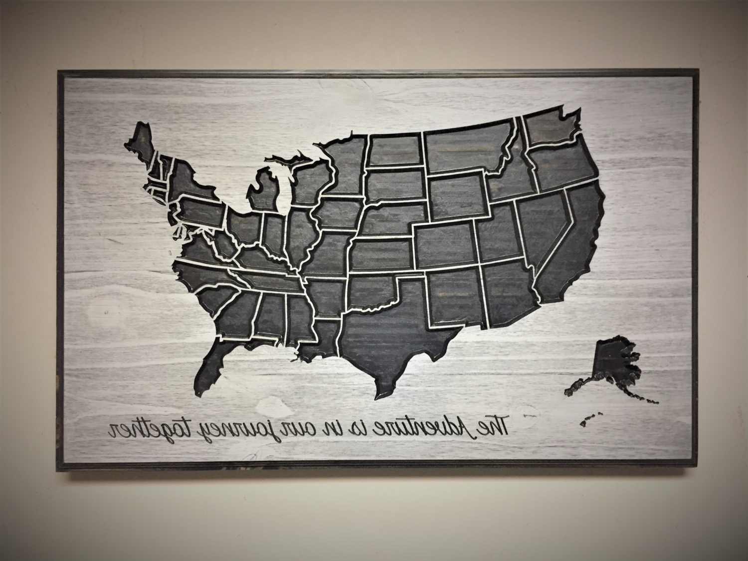 Travel Wall Decor, Adventure Map, Wooden Us Map, Wood Wall Art Regarding Trendy Us Map Wall Art (View 7 of 15)