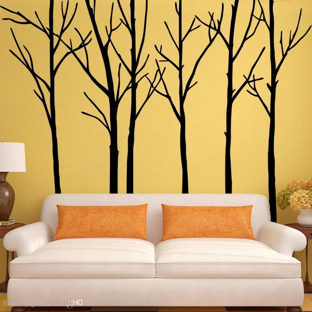 Tree Branch Wall Art Inside Recent Extra Large Black Tree Branches Wall Art Mural Decor Sticker With (Gallery 9 of 15)