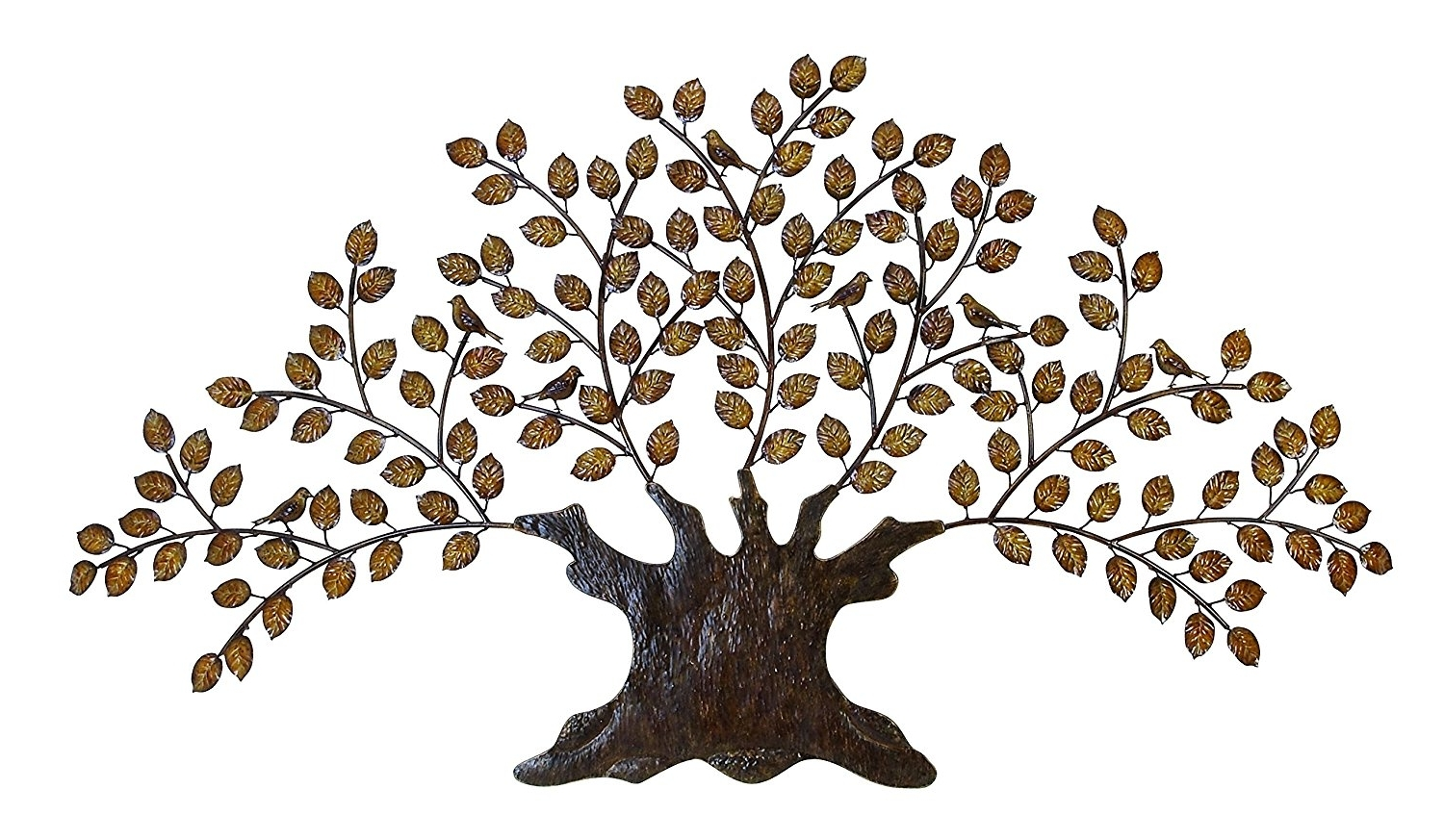 Tree Of Life Metal Wall Art Large Decoration With Branch And Leaves Pertaining To Well Known Metal Wall Art Trees And Branches (View 5 of 15)