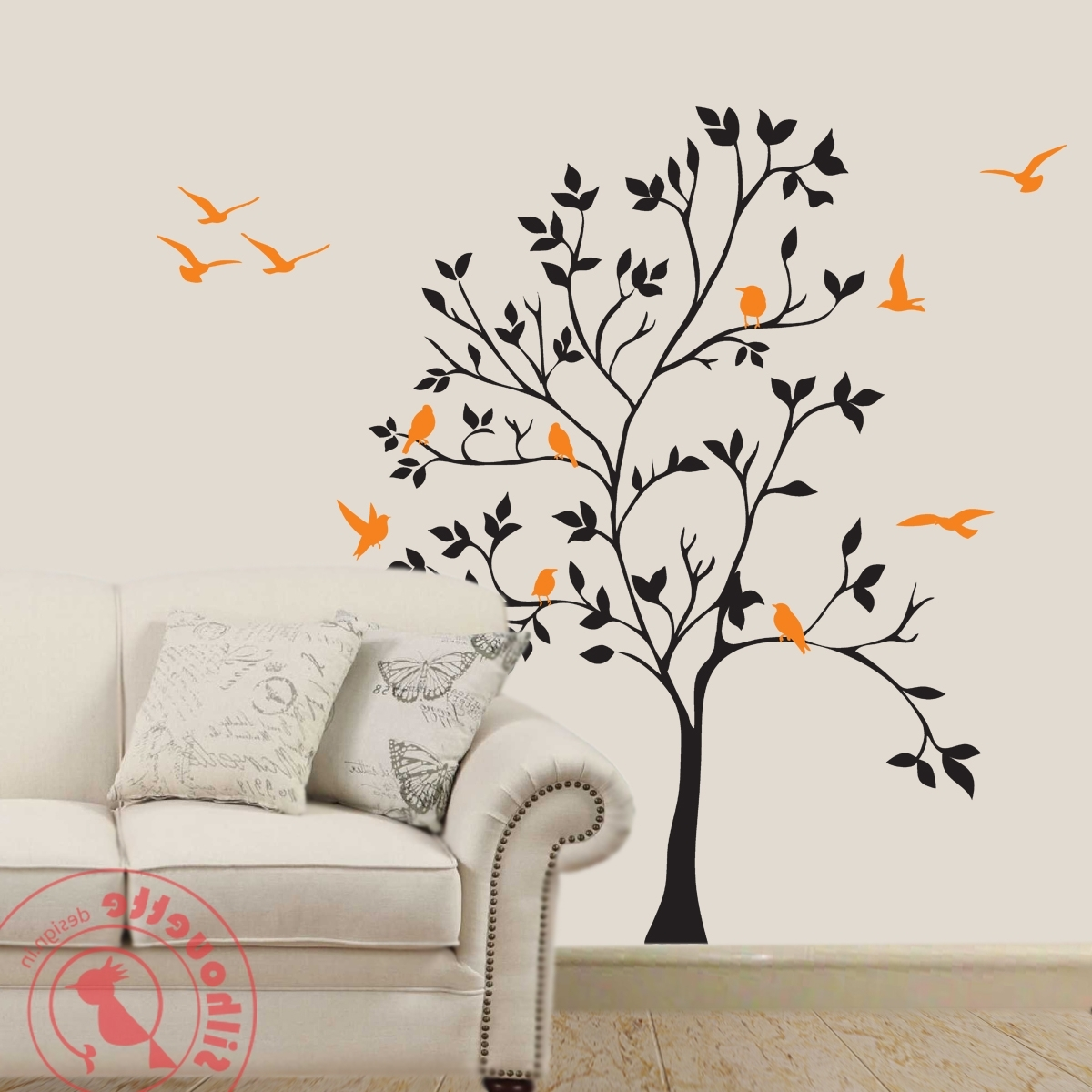 Tree Of Life Wall Art Stickers Regarding Most Popular Tree Design Wall Art • Wall Design (View 10 of 15)