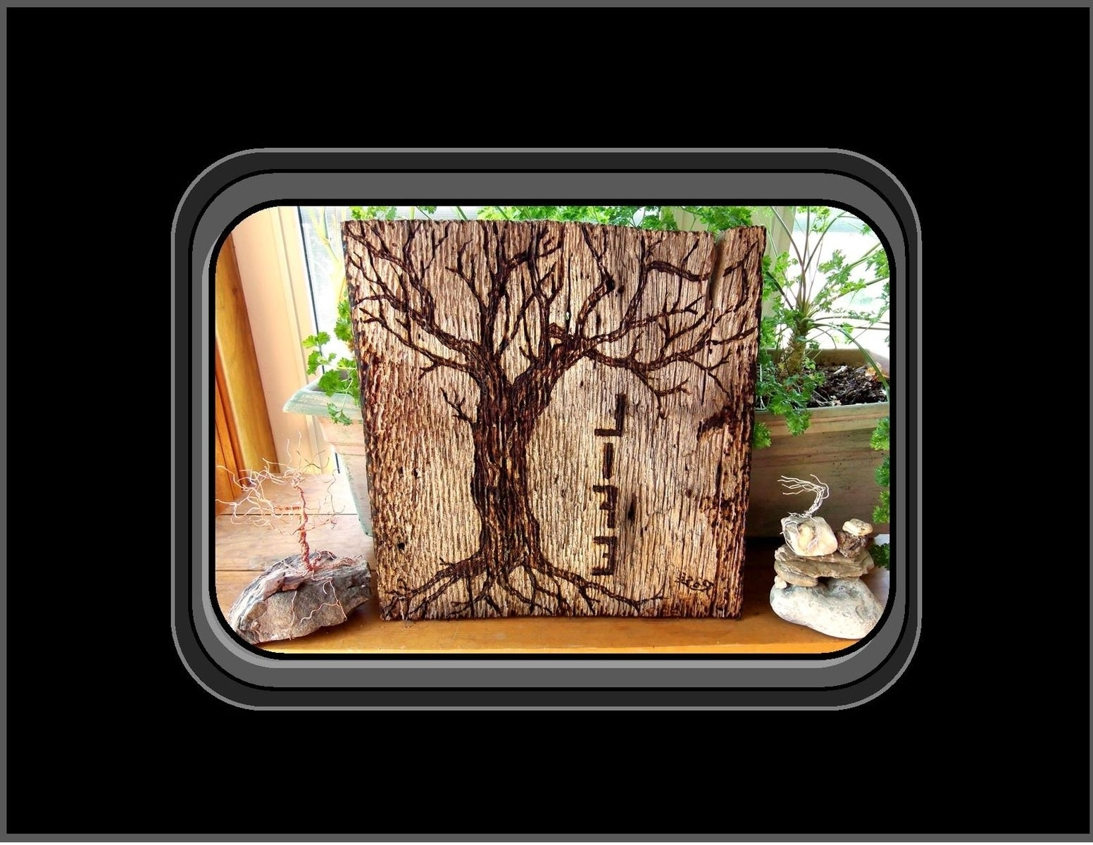 Tree Of Life Wood Carving Wall Art Regarding Well Known Hand Made Tree Of Life, Tree Of Life Wood Burned Art, Tree Of Life (View 8 of 15)