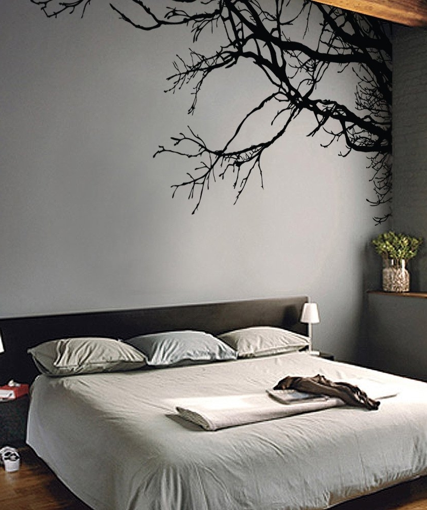 Tree Top Branches In A Vinyl Wall Decal Stickerstickerbrand Regarding Most Popular Wall Cling Art (View 11 of 15)