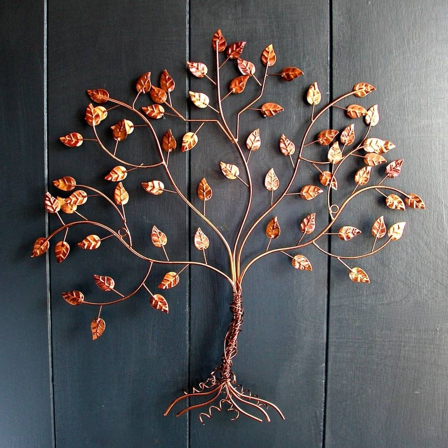 Tree Wall Art Sculpture Intended For Current Copper Wire Wall Art – Edu9841 #0f3ab94667a (View 13 of 15)