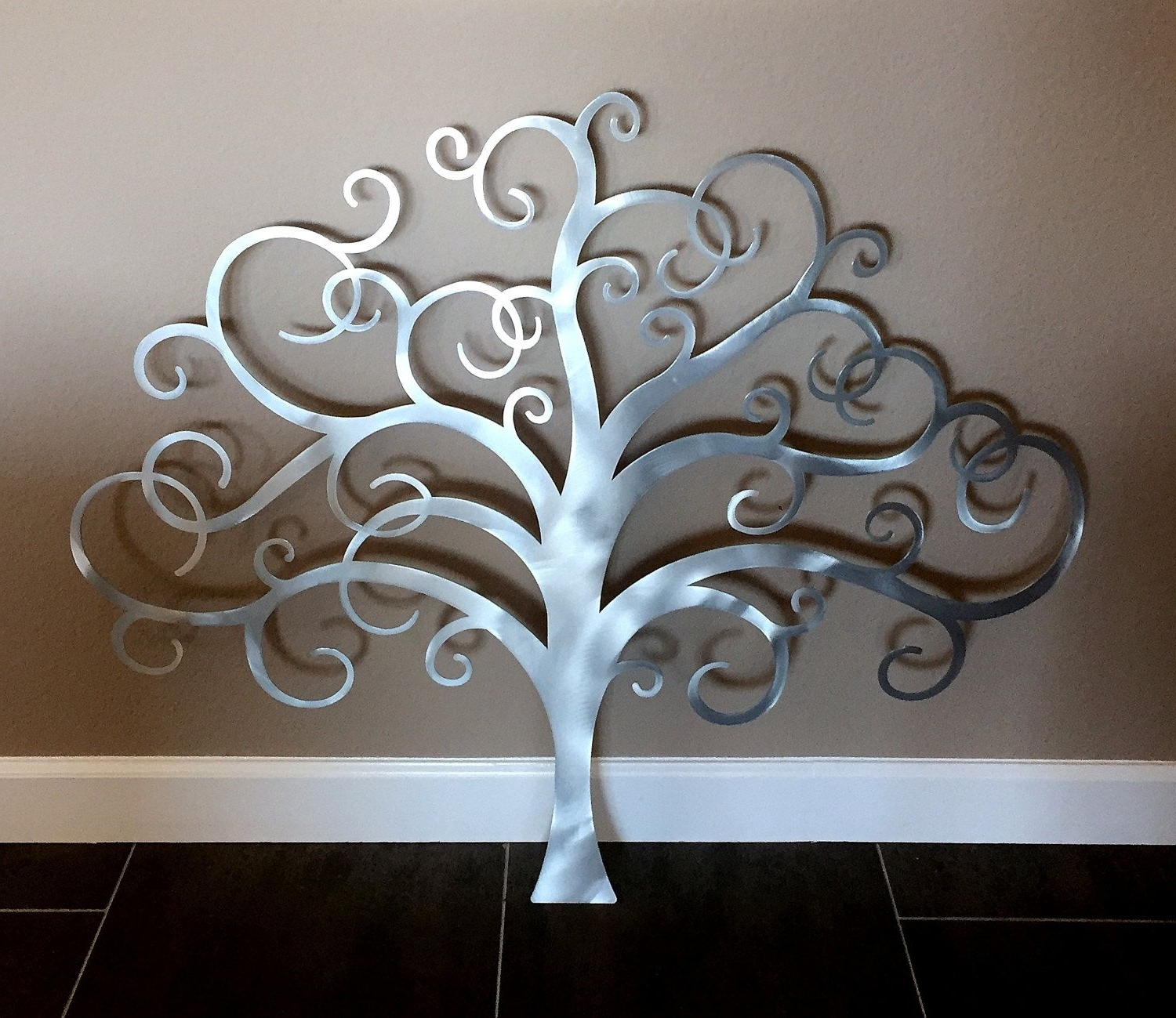 Tree Wall Art Sculpture With Most Up To Date Metal Tree Wall Art, Tree Of Life Wall Decor, Metal Tree Wall Art (View 15 of 15)