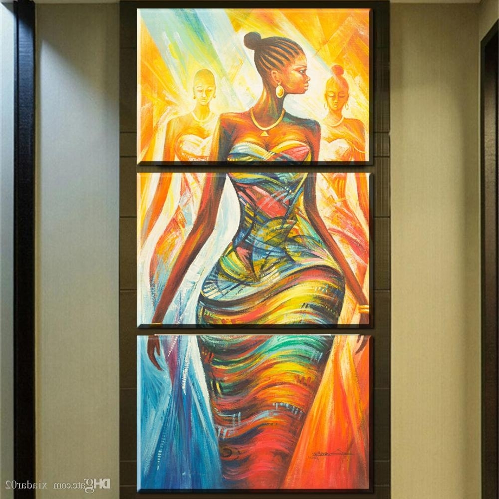 Trendy 2018 Zz679 Hd Print Poster Wall Art Abstract Modern African Women Within Abstract African Wall Art (View 12 of 15)