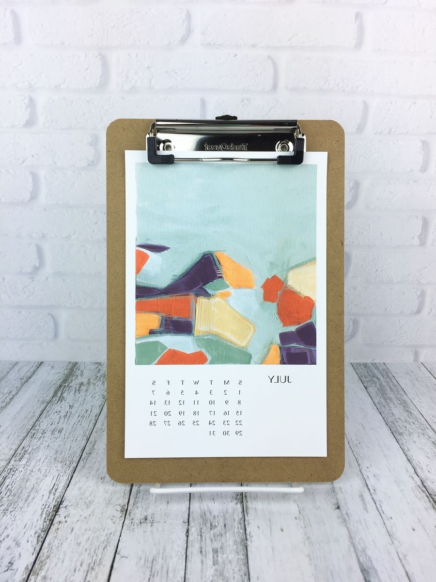 Trendy Abstract Calendar Art Wall With Abstract Art Clipboard Calendar, Art Wall Calendar 2018, Art (View 13 of 15)