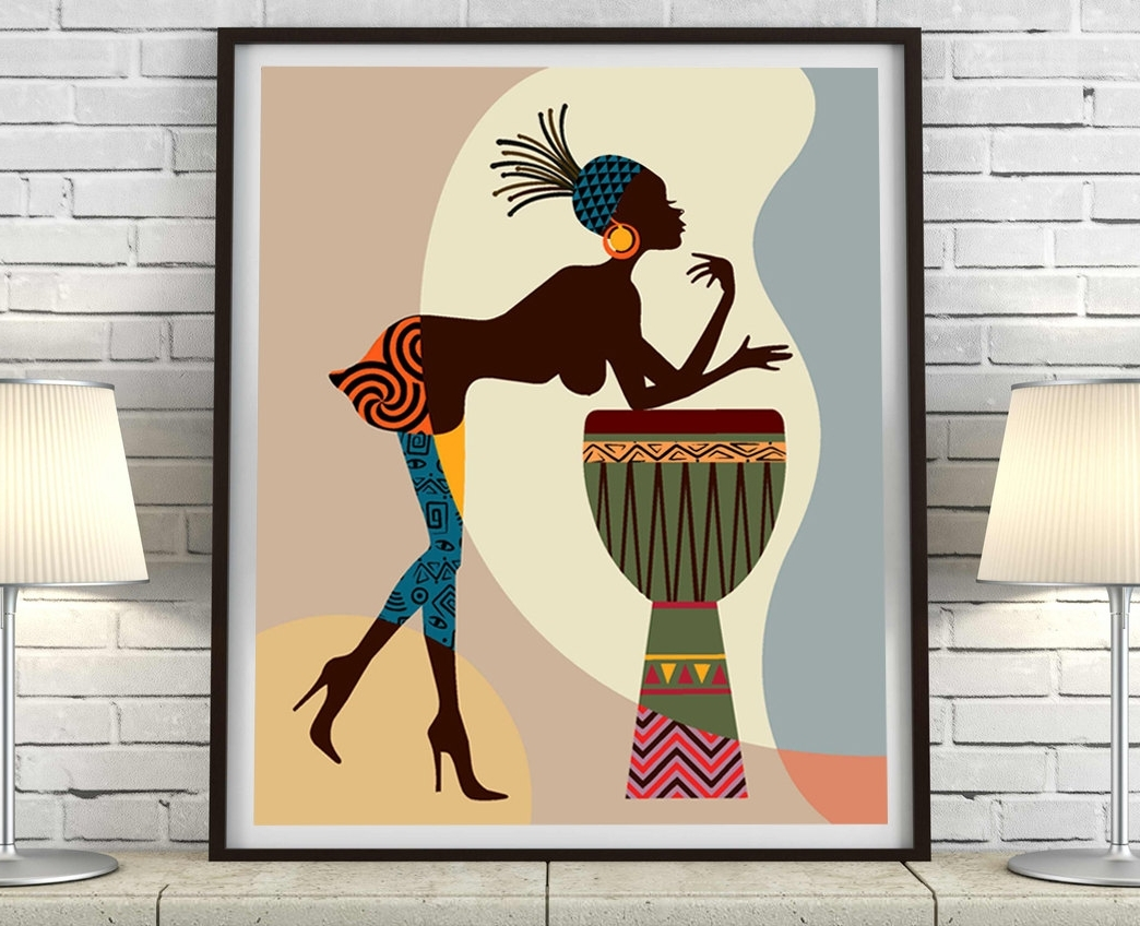 Trendy African American Art, African Wall Art Decor, African Woman Regarding African American Wall Art And Decor (View 12 of 15)