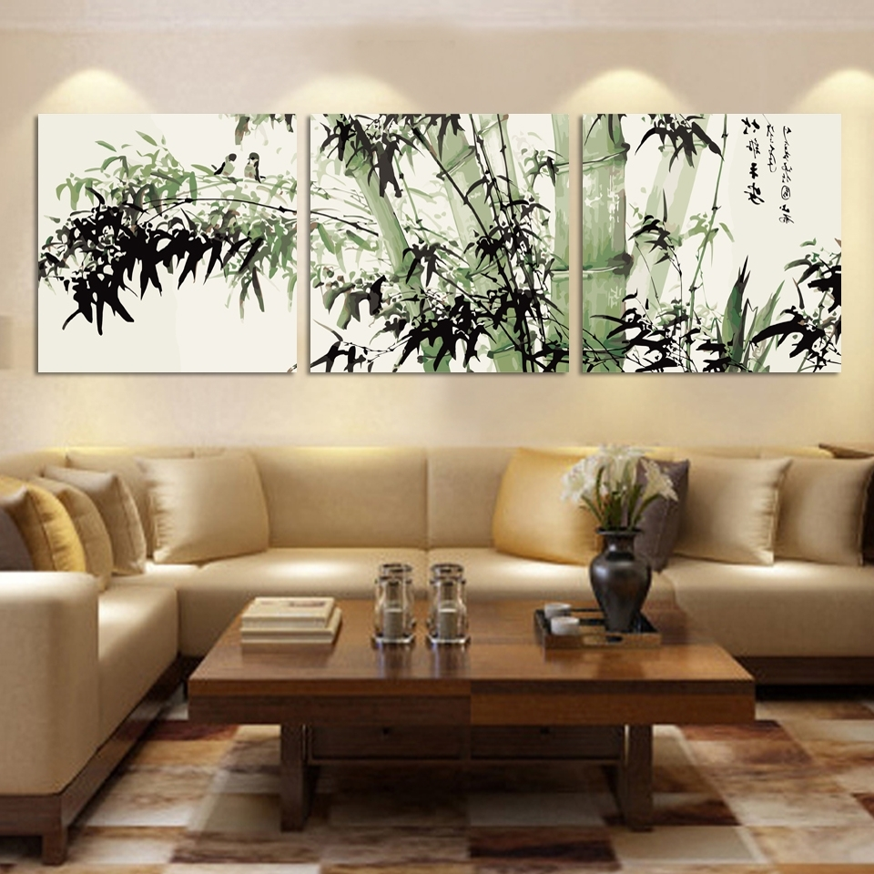 Trendy Fashion Large Canvas Art Cheap Modern Abstract Bamboo Canvas Wall With Regard To Large Cheap Wall Art (View 6 of 15)