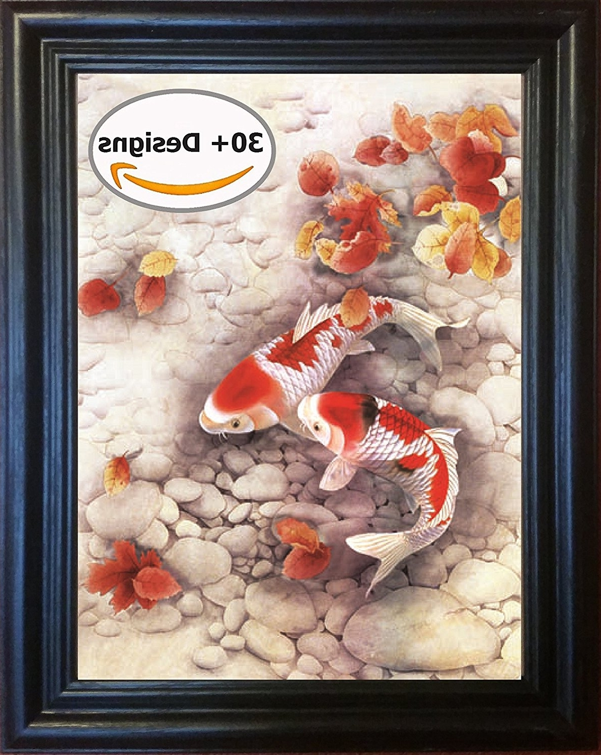 Trendy Framed 3D Wall Art Regarding Amazon: Koi Fish Framed 3D Lenticular Picture – 14.5X (View 15 of 15)