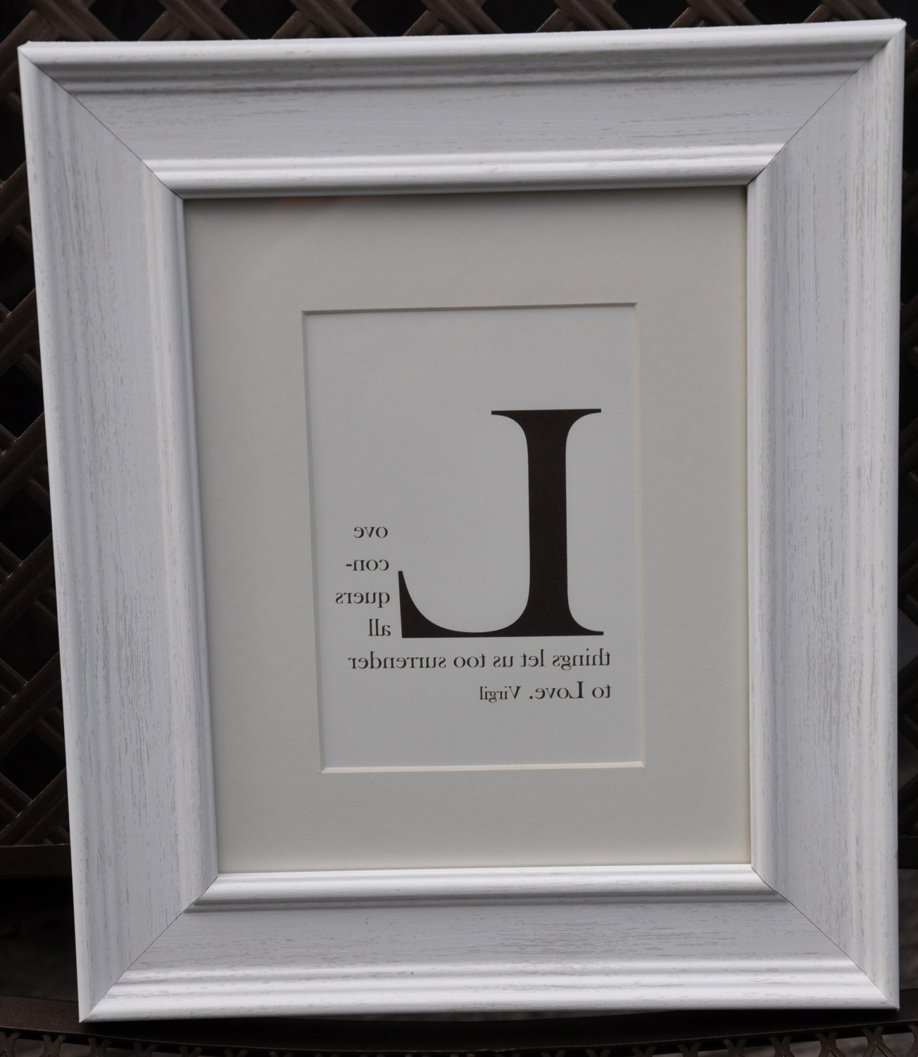 Trendy Framed Monogram Wall Art Regarding Wall Decor: Quote Starting With Any Letter (View 13 of 15)